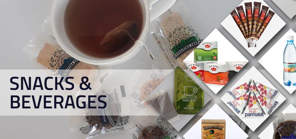 snacks & beverages